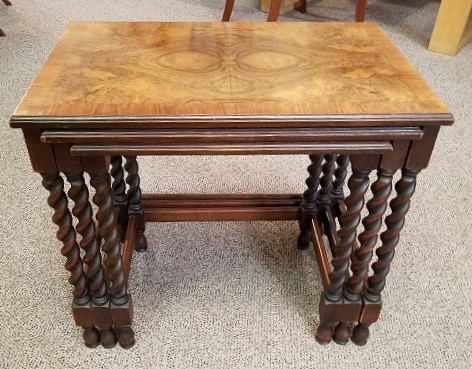 Coffee nesting tables product categories mccarneys furniture item st5 set of walnut english oak nesting tables c1930s watchthetrailerfo