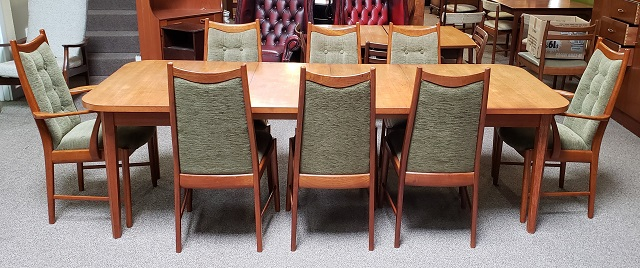 Item U578 Mid Century Modern Teak Dining Set C 1970s Mccarneys Furniture